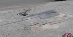 Уложенная к «Дожинкам» в Пинске плитка провалилась