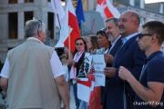 День солидарности с Беларусью в Варшаве