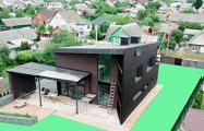Фотофакт: Под Минском появился дом с необычной архитектурой