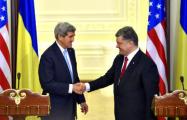 Порошенко обсудил с Керри войну в Донбассе