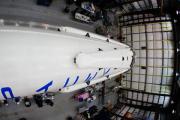 Ракета космического «грузовика» получила опоры для вертикального приземления