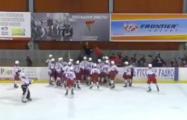 В Могилеве произошла массовая драка хоккеистов из России и Словакии