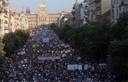 В Праге начался многотысячный антиправительственный протест