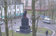 В Могилеве тоже облили красной краской памятник Ленину