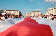 Жители Минска идут в центр колоннами из разных частей города