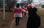 Жители Ангарской вышли на марш