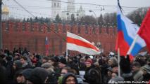 Белорусы пришли на марш памяти Немцова в Москве