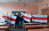 Студенты БГУИР протестуют прямо в университете