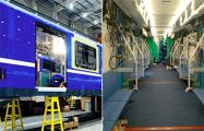 Фотофакт: Как будут выглядеть новые поезда для минского метро изнутри