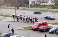 Жители Гродно поддержали протестующих минчан