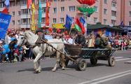 На параде в Лиде по городу вели «пленного нациста»