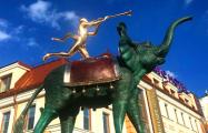В Минске установили скульптуру семиметрового слона Сальвадора Дали