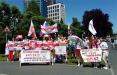 Белорусы Франкфурта устроили марш солидарности с соотечественниками