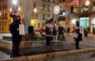 Белорусы Вроцлава провели акцию в поддержку белорусских пенсионеров