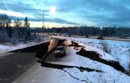 Землетрясение на Аляске: трассы раскололись как лед