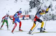 Белорусские биатлонисты до последней стрельбы сражались за медаль в эстафете