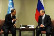 Пан Ги Мун поблагодарил Путина за позицию России по проблеме климата
