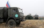 Машина с российскими военными подорвалась на мине в Нагорном Карабахе