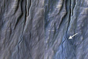 На Марсе засняли рождение нового оврага