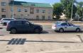 В Минске девушка на BWM протаранила машину ГАИ