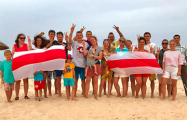 Белорусы Туниса поддержали соотечественников