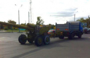 Фотофакт: В Гомеле замечено передвижение крупнокалиберной артиллерии