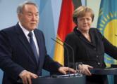 Назарбаев обсудил ситуацию в Донбассе с Меркель и Путиным