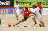 Евролига: Сборная Беларуси по пляжному футболу победила Францию
