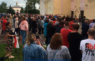 Жители Шарковщины вышли на митинг