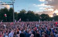 Видеофакт: Вся площадь заполнена людьми в Минске