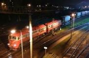 Грузовые автомобили пересекли белорусско-литовскую границу по железной дороге