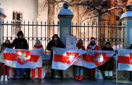 Белорусы Москвы вышли в поддержку бело-красно-белого флага