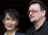 U2 спели для Аун Сан Су Чжи (Фото)