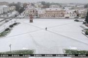 В Гродненской области выпал первый снег