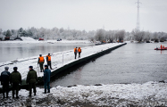 Понтонный мост в Житковичском районе восстановят, когда позволит погода