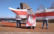 Партизаны Борисова вышли под бело-красно-белыми флагами
