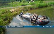 Из водоема под Бобруйском достали Nissan с телами четырех мужчин, среди них - два милиционера