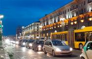 На Городском Валу в Минске автомобилисты громогласно сигналят