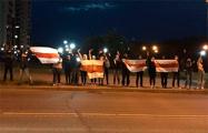 Во многих районах Гродно люди встали в цепи солидарности