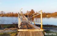 В Столинском районе сельчане требуют от властей построить мост через реку