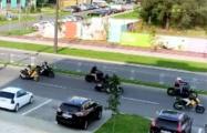 Шумный мотопробег солидарности прошел в Новой Боровой