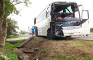 В Украине туристический автобус из Беларуси попал в ДТП