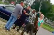 В Пинске пешеход подрался с гаишником