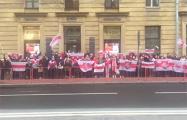 Около сотни белорусов Санкт-Петербурга вышли на протест