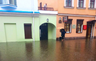 Видеофакт: Как в центре Минска затопило недавно отремонтированные улицы