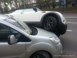Курьезная авария в Минске: Mini «запрыгнул» на Citroen