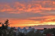 Фотофакт: Огненный закат над Минском