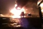 В Мексиканском заливе загорелась нефтяная платформа