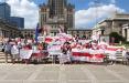 Белорусы Варшавы вышли на традиционную воскресную акцию