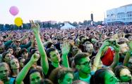 Видеофакт: Стотысячный фестиваль в Лиде с высоты